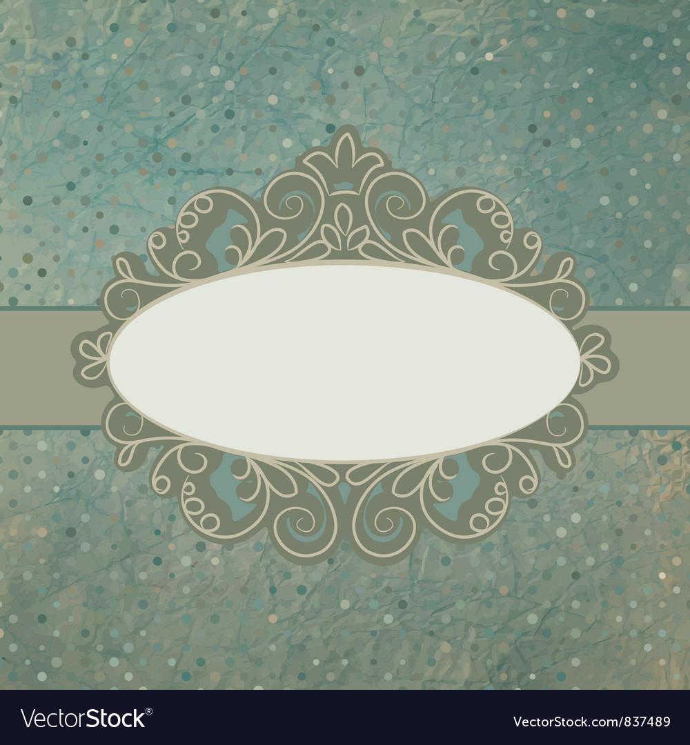 Vintage pattern card vector | Price: 1 Credit (USD $1)