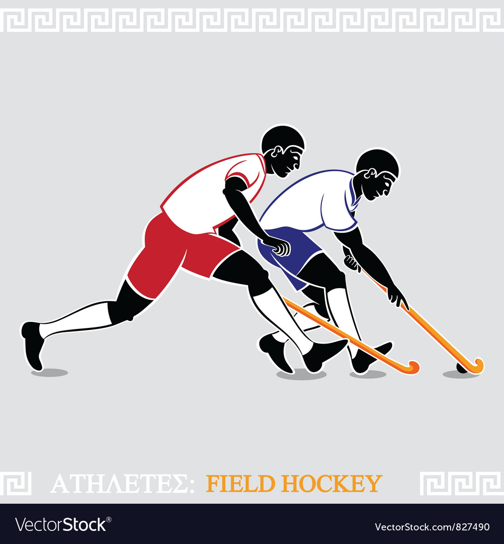 Athletes field hockey players vector | Price: 1 Credit (USD $1)