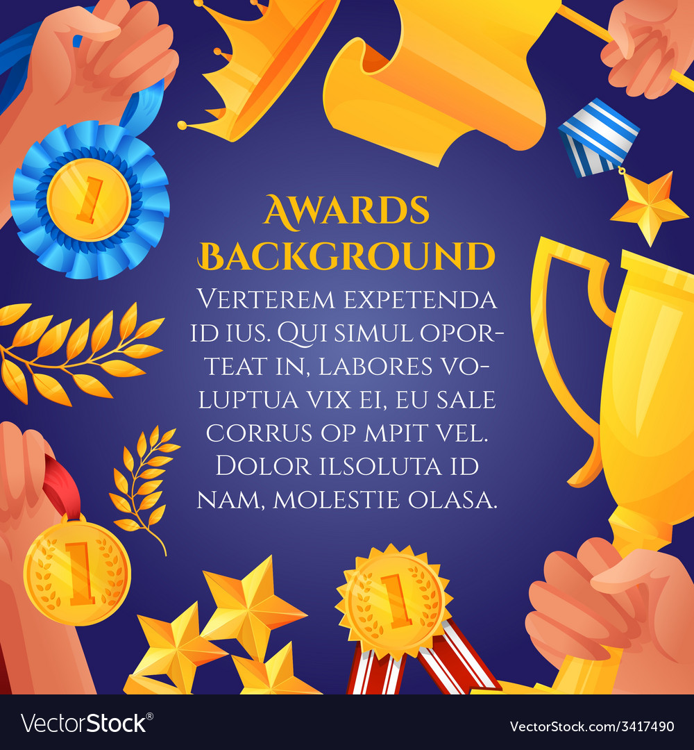 Award and prizes poster vector | Price: 1 Credit (USD $1)