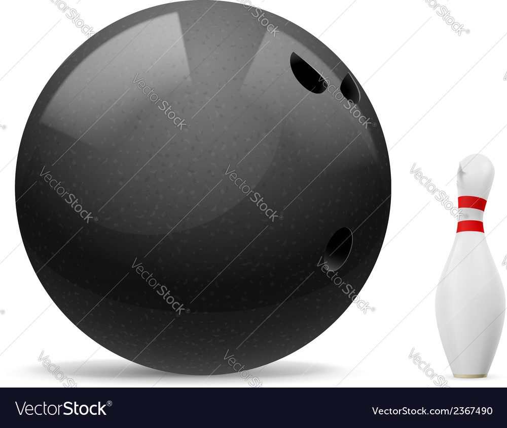 Ball and skittle vector | Price: 1 Credit (USD $1)
