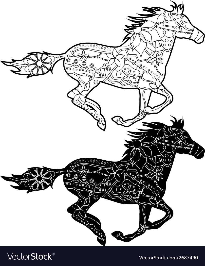 Black horses vector   Price: 1 Credit (USD $1)