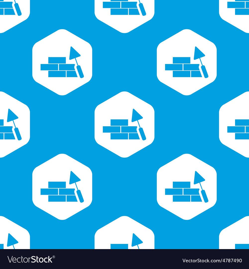 Building wall hexagon pattern vector | Price: 1 Credit (USD $1)