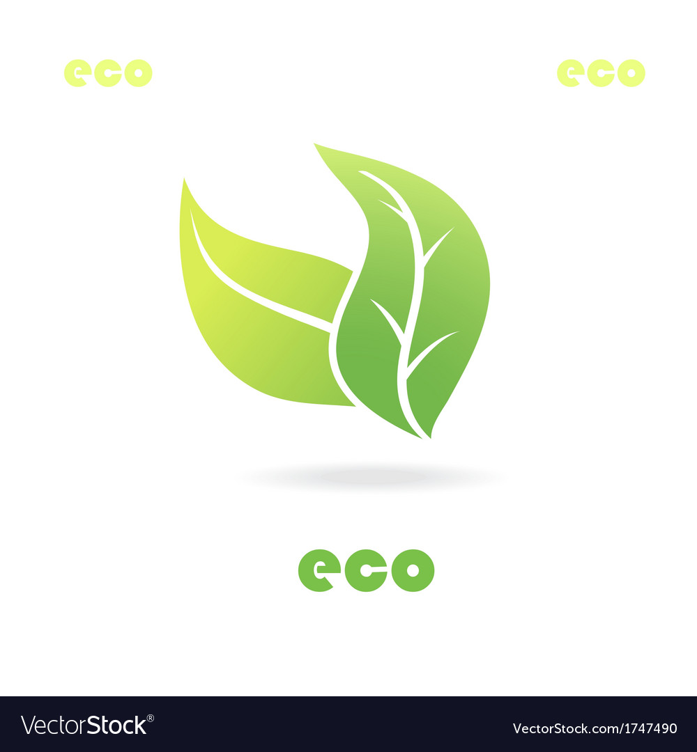 Eco icon leaves vector | Price: 1 Credit (USD $1)