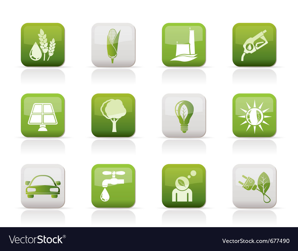 Environment and nature icons vector | Price: 1 Credit (USD $1)
