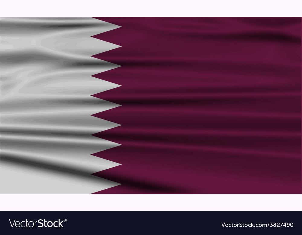 Flag of qatar with old texture vector   Price: 1 Credit (USD $1)