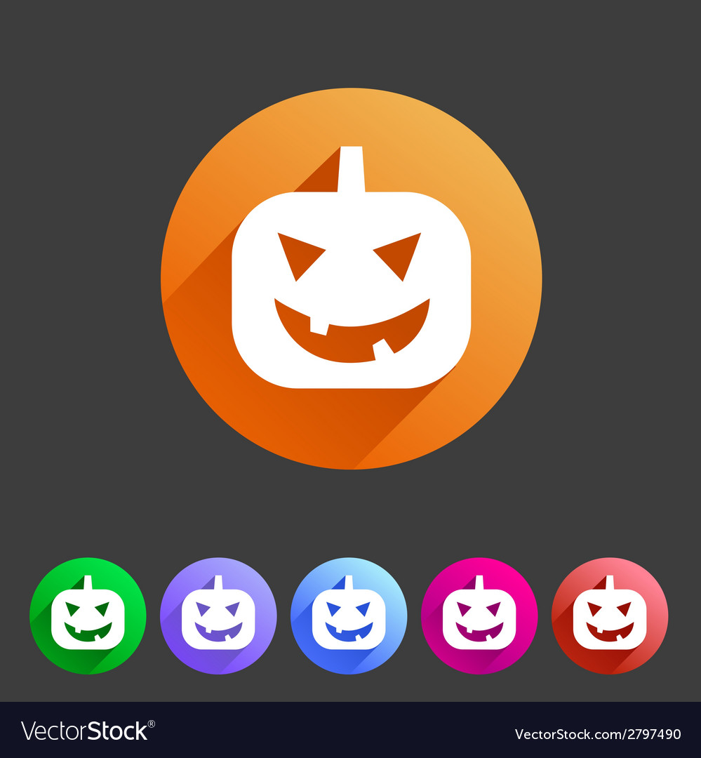 Halloween pumpkin icon vector | Price: 1 Credit (USD $1)