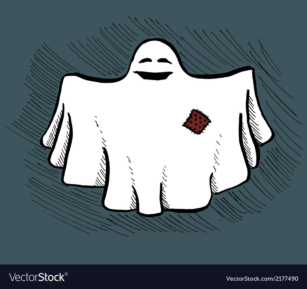 Hand drawn ghost vector | Price: 1 Credit (USD $1)
