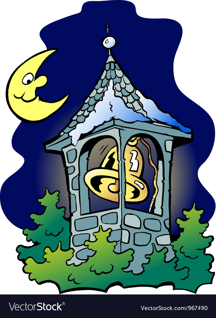Hand-drawn of an church tower vector | Price: 1 Credit (USD $1)