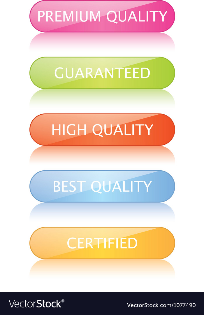 Quality buttons vector   Price: 1 Credit (USD $1)