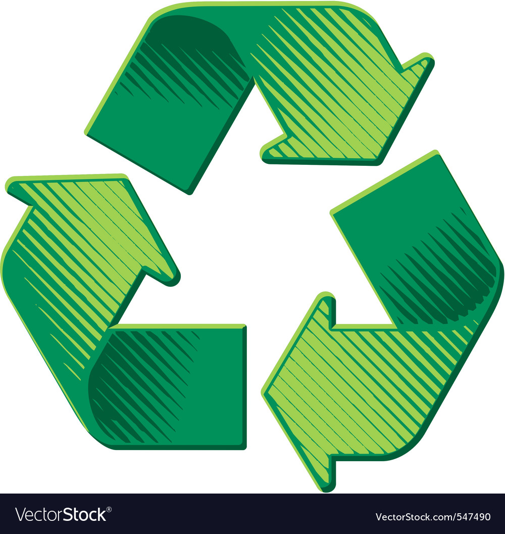 Recycling icon vector | Price: 1 Credit (USD $1)