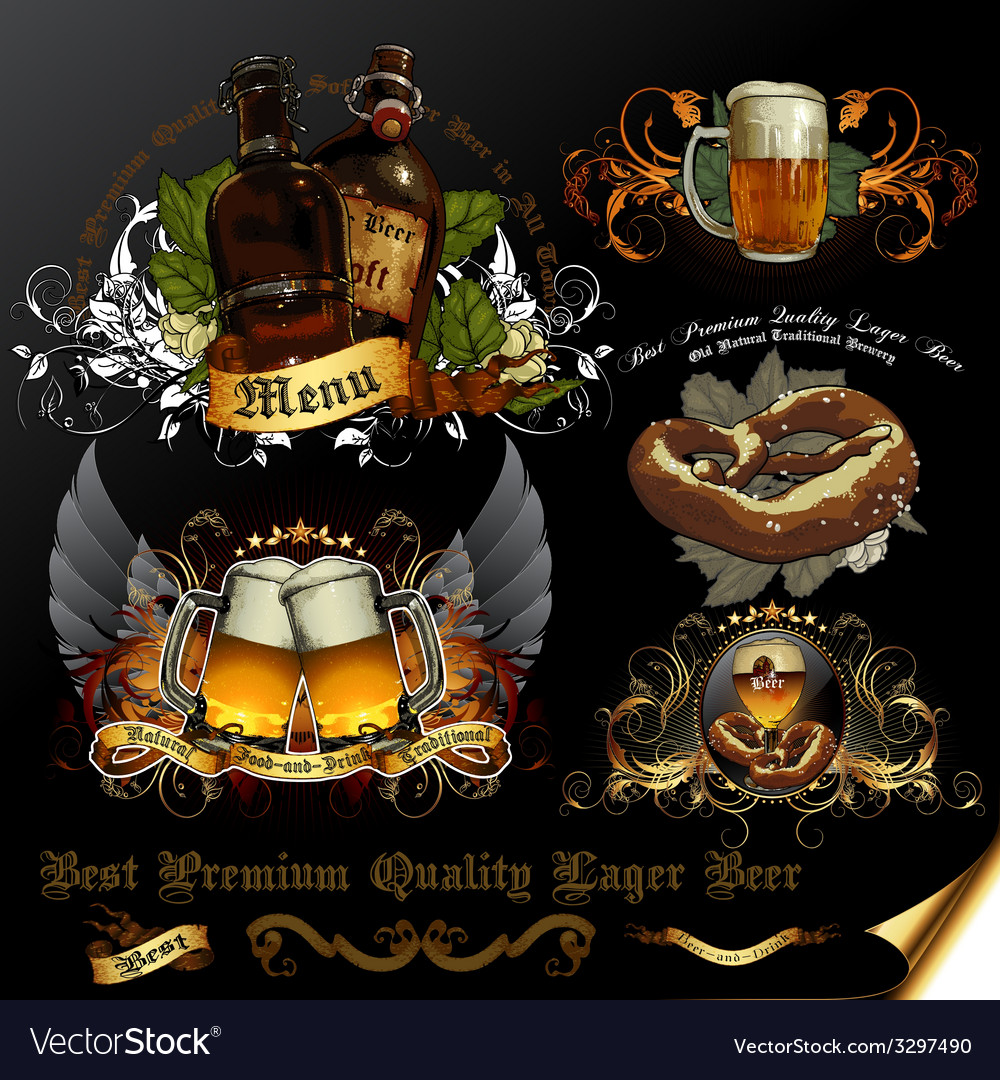 Set of beer icons vector | Price: 1 Credit (USD $1)
