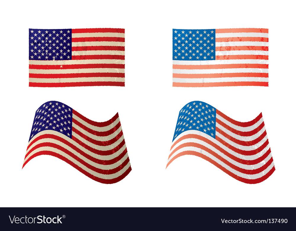 Usa flag grunge variation vector | Price: 1 Credit (USD $1)