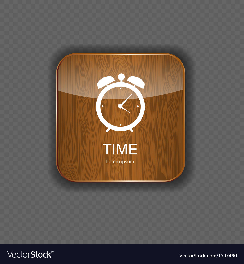 Watch wood application icons vector | Price: 1 Credit (USD $1)