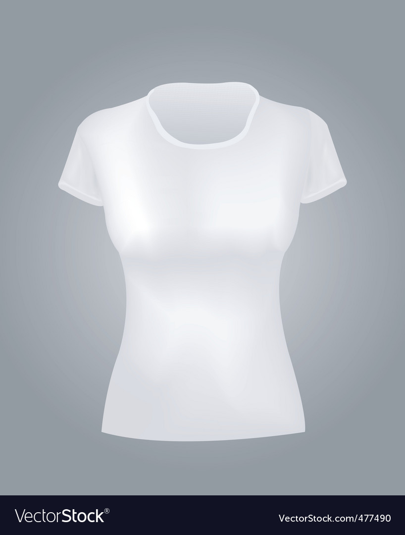 White women shirt vector | Price: 1 Credit (USD $1)