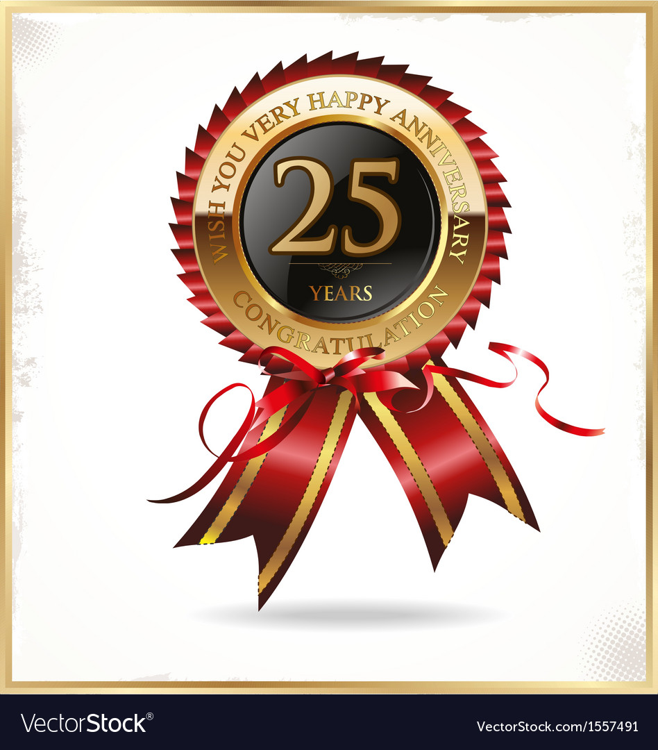 25 years anniversary label vector | Price: 1 Credit (USD $1)