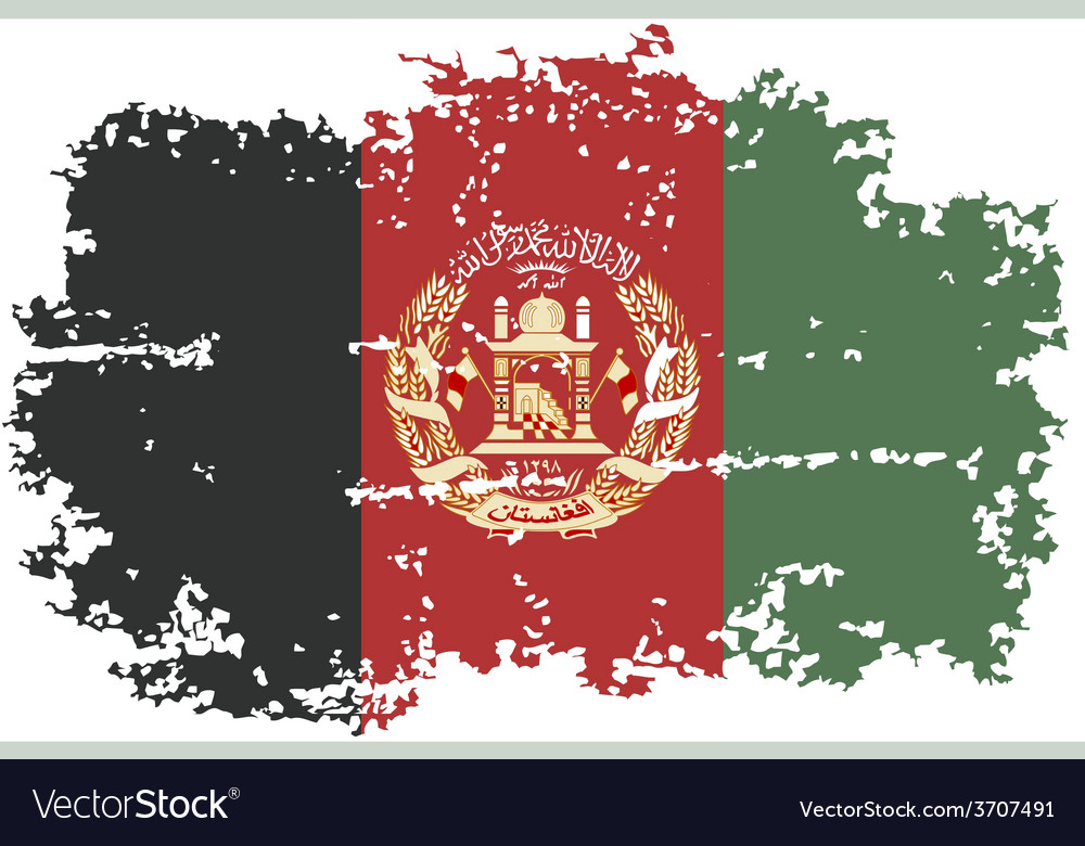Afghanistan grunge flag vector | Price: 1 Credit (USD $1)