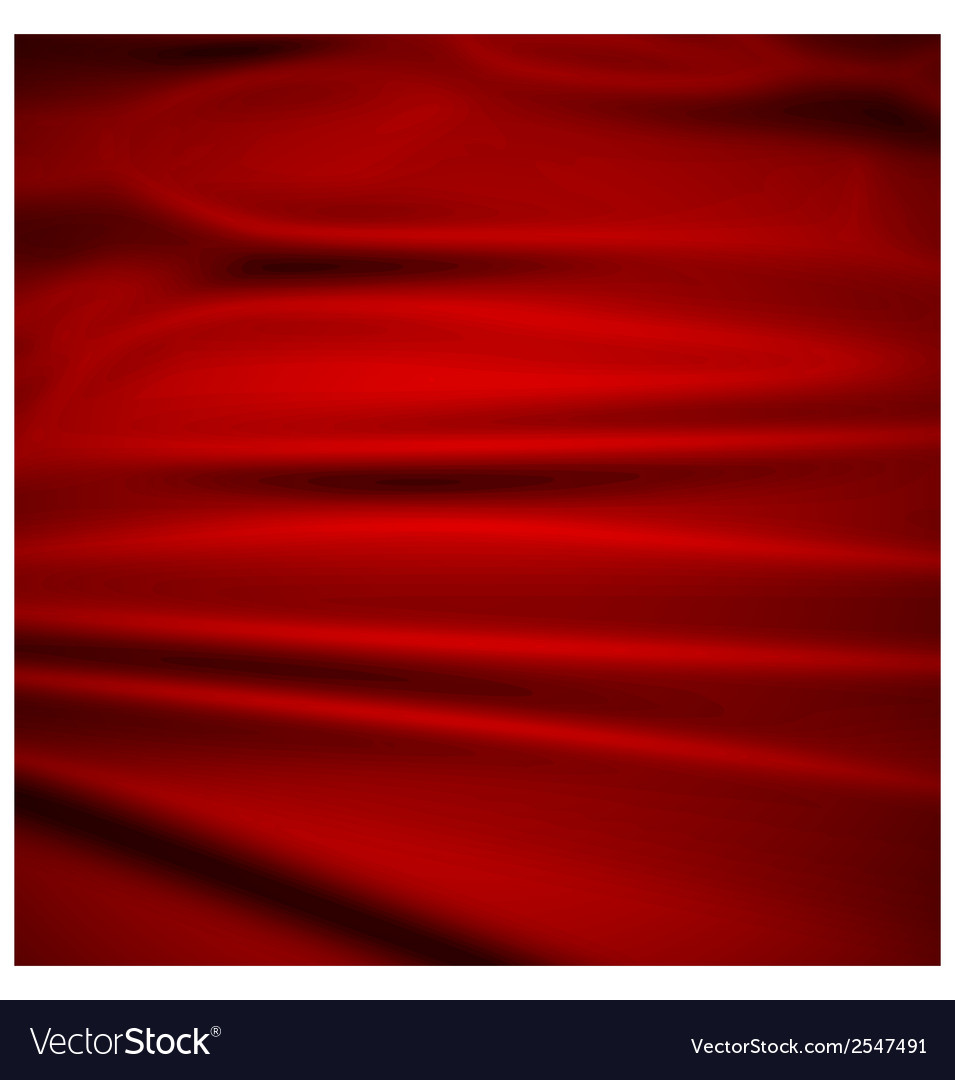 Beautiful red silk drapery textile background vector | Price: 1 Credit (USD $1)