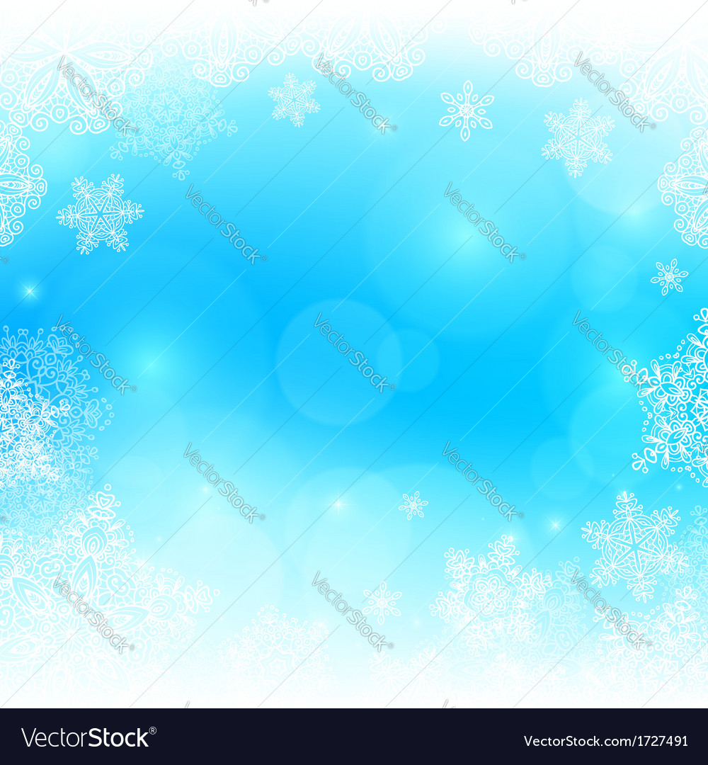 Blue snowy blurred background vector | Price: 1 Credit (USD $1)