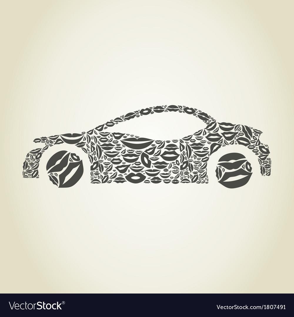 Car a lip vector | Price: 1 Credit (USD $1)
