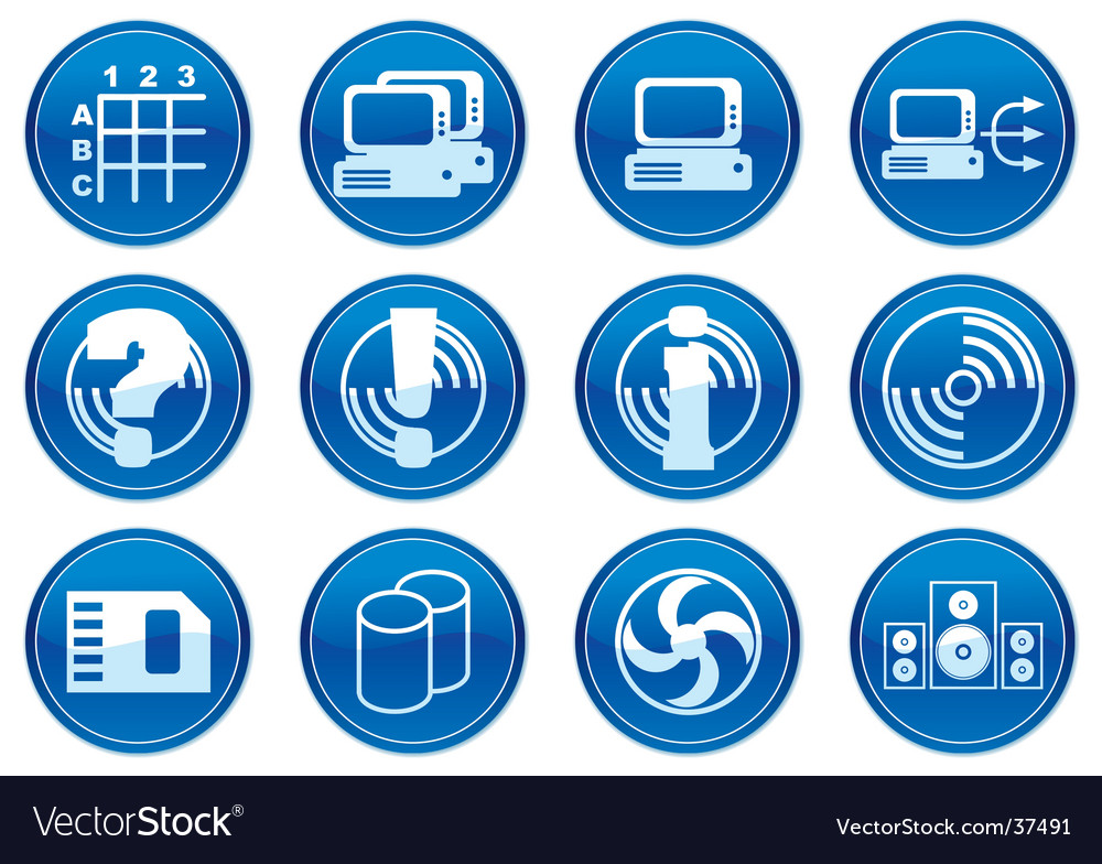 Gadget icon set vector | Price: 1 Credit (USD $1)