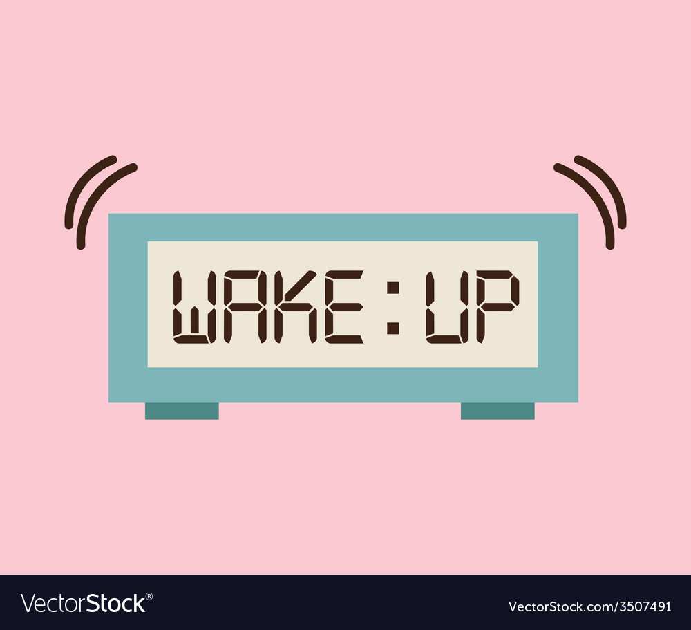 Wake up design vector | Price: 1 Credit (USD $1)