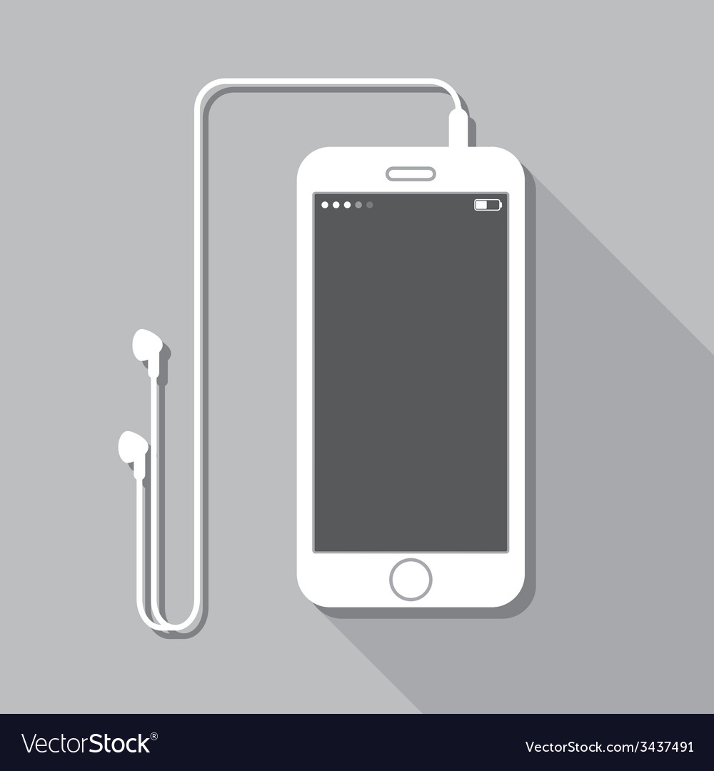 With a mobile phone device in flat style with vector | Price: 1 Credit (USD $1)