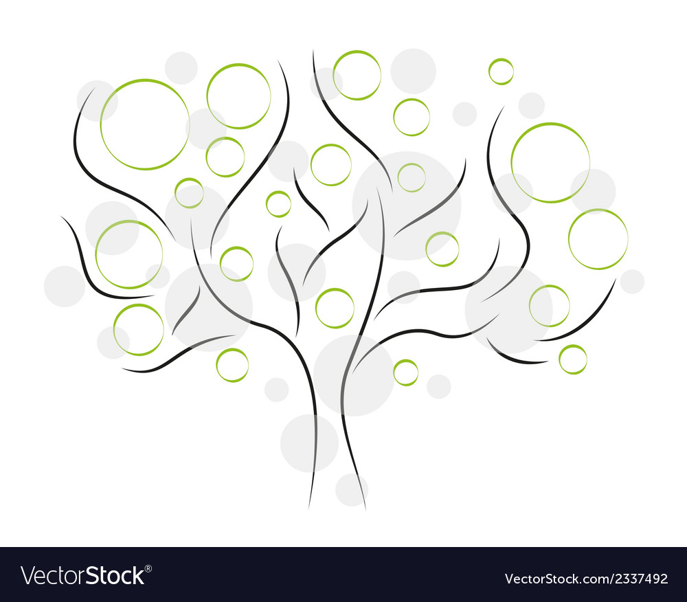 Abstract tree with balls vector | Price: 1 Credit (USD $1)