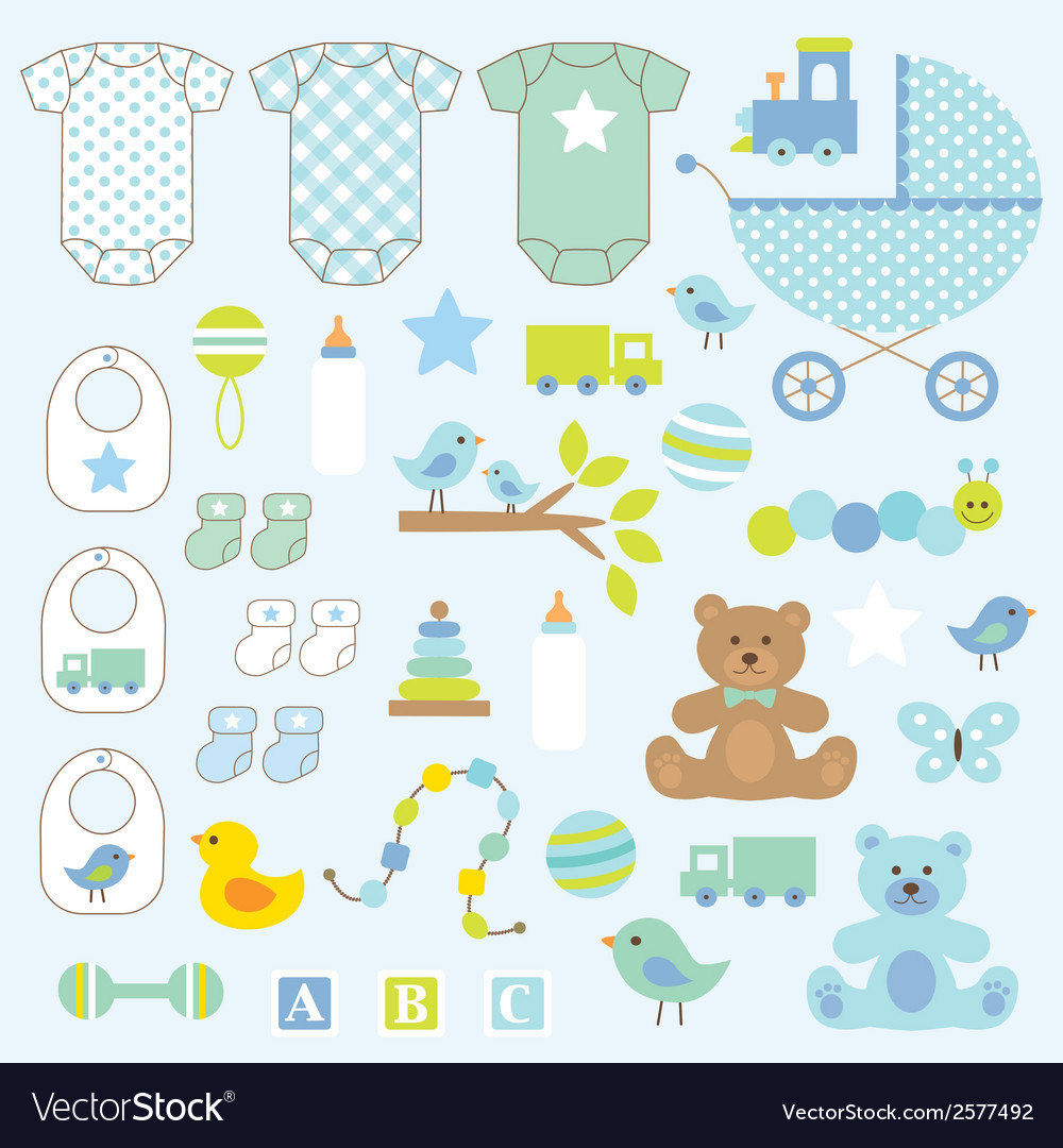 Baby boy clipart vector | Price: 1 Credit (USD $1)