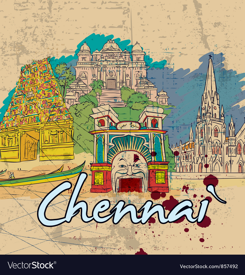 Chennai doodles vector | Price: 3 Credit (USD $3)