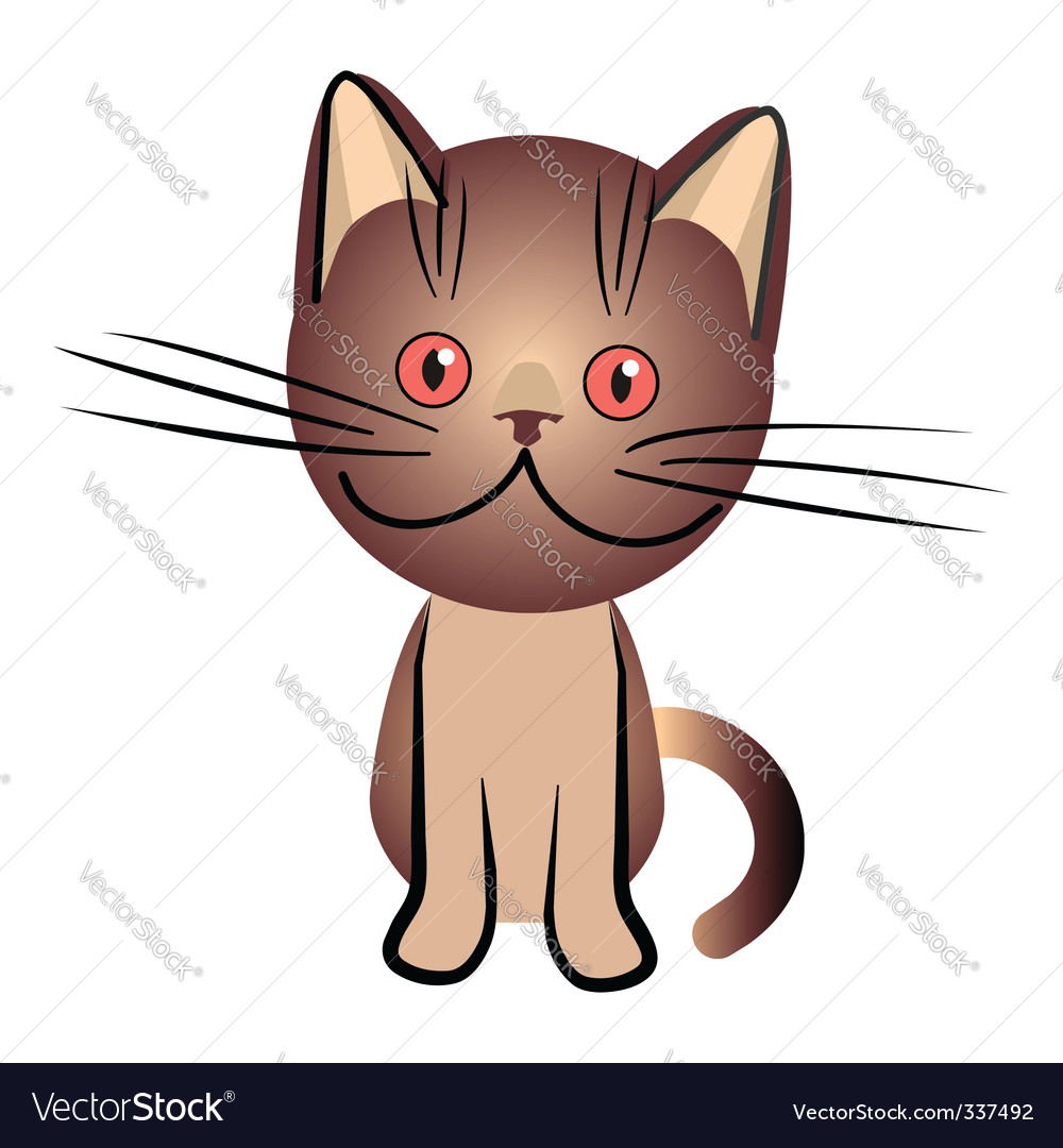 Chocolate british cat vector | Price: 1 Credit (USD $1)