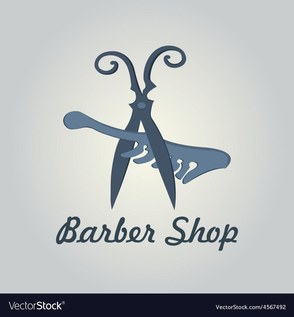 Comb and scissors icon vector | Price: 1 Credit (USD $1)