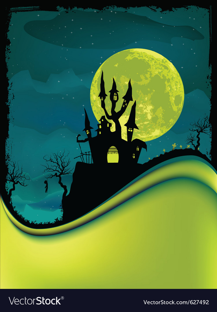 Dark scary halloween night vector | Price: 3 Credit (USD $3)