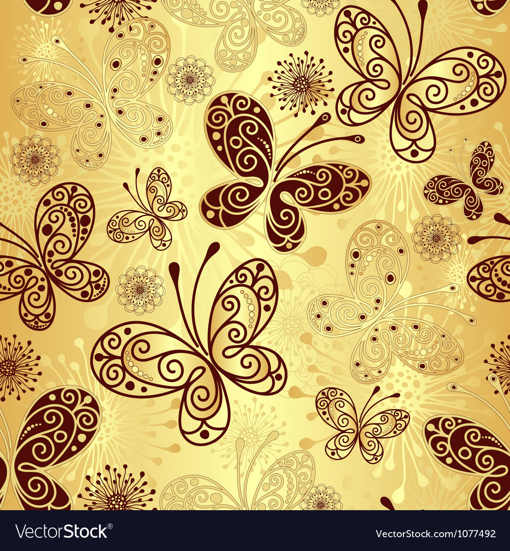 Gold seamless pattern vector | Price: 1 Credit (USD $1)