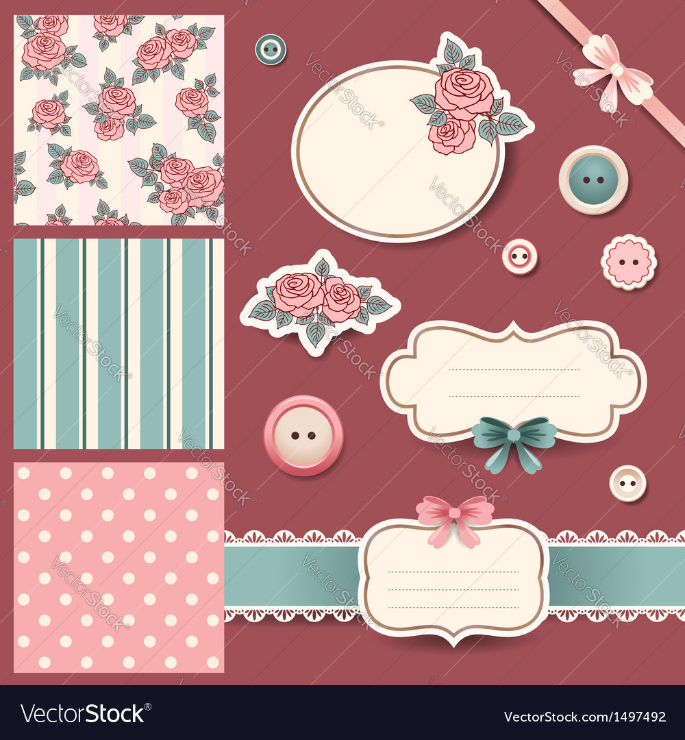Scrap book set vector | Price: 1 Credit (USD $1)