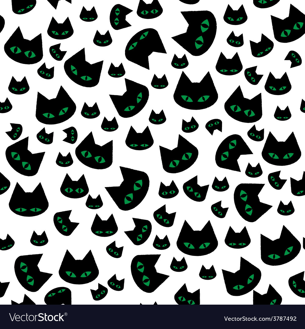 Seamless texture with black cats vector | Price: 1 Credit (USD $1)