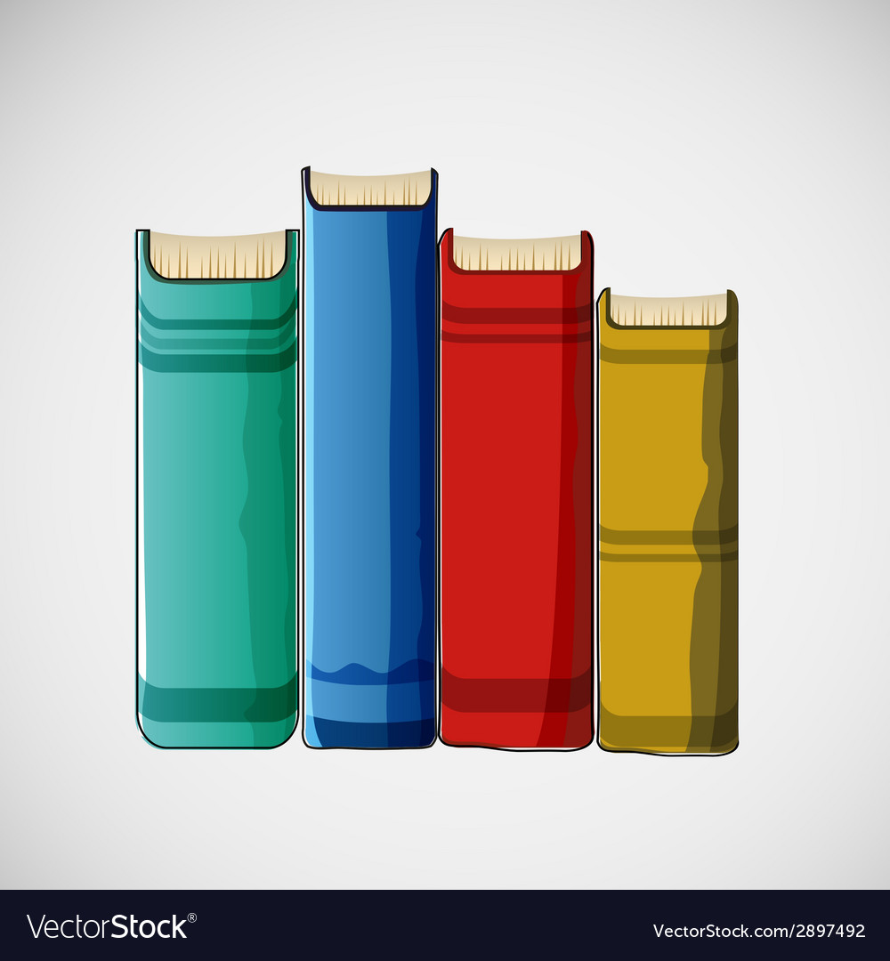 Set of different books stacked design vector | Price: 1 Credit (USD $1)