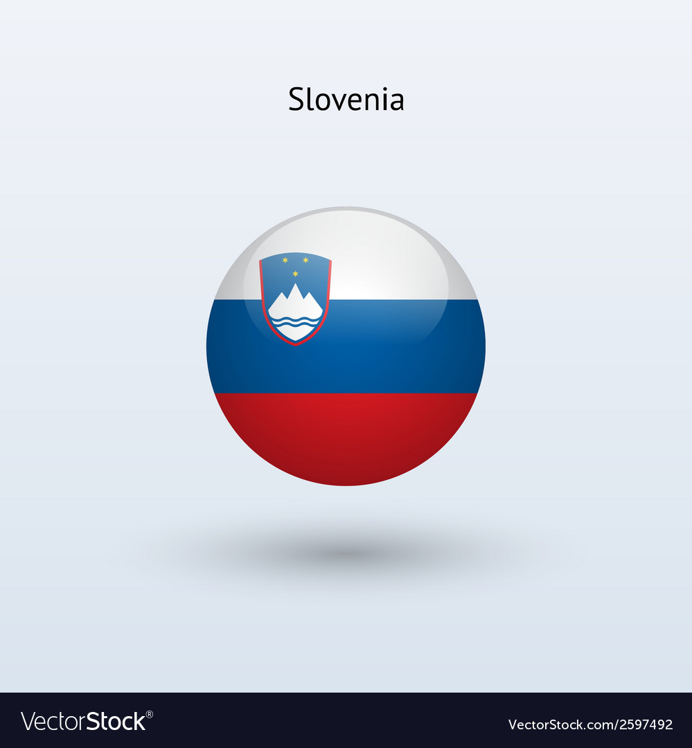 Slovenia round flag vector | Price: 1 Credit (USD $1)