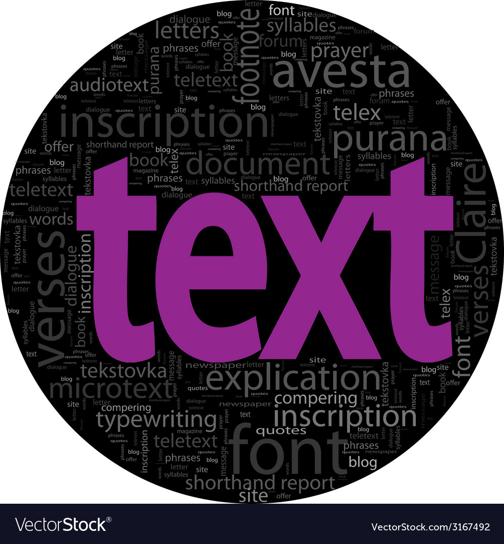 Text concept black backgroung in word tag cloud vector | Price: 1 Credit (USD $1)