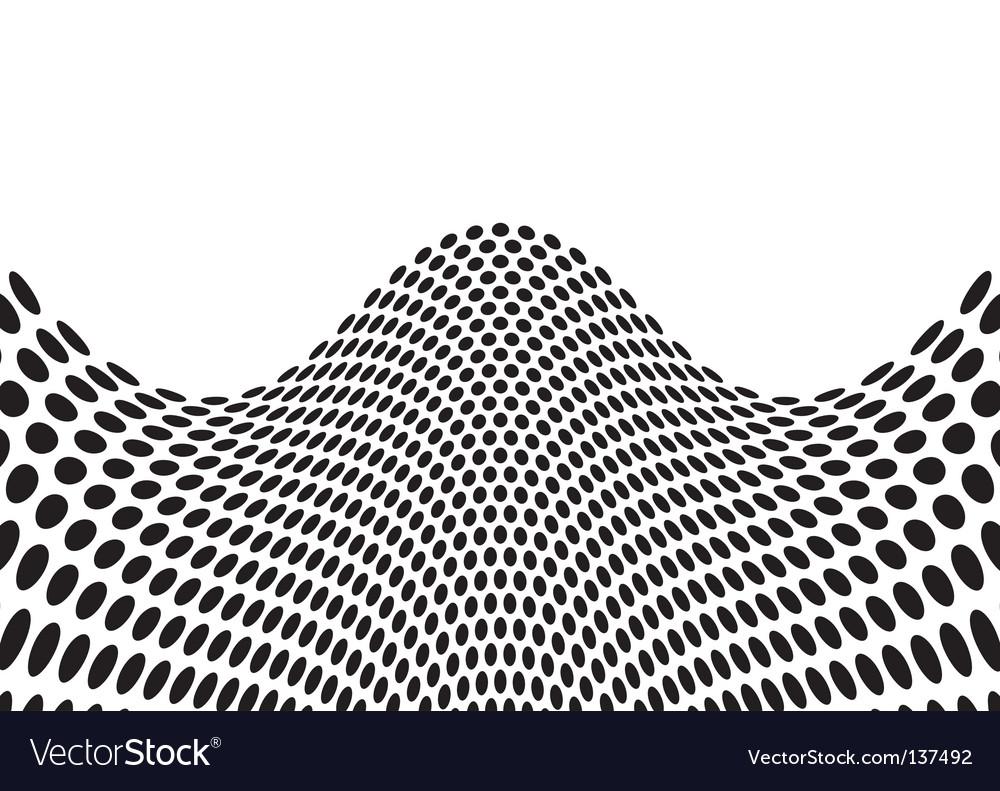Wave bulge black vector | Price: 1 Credit (USD $1)