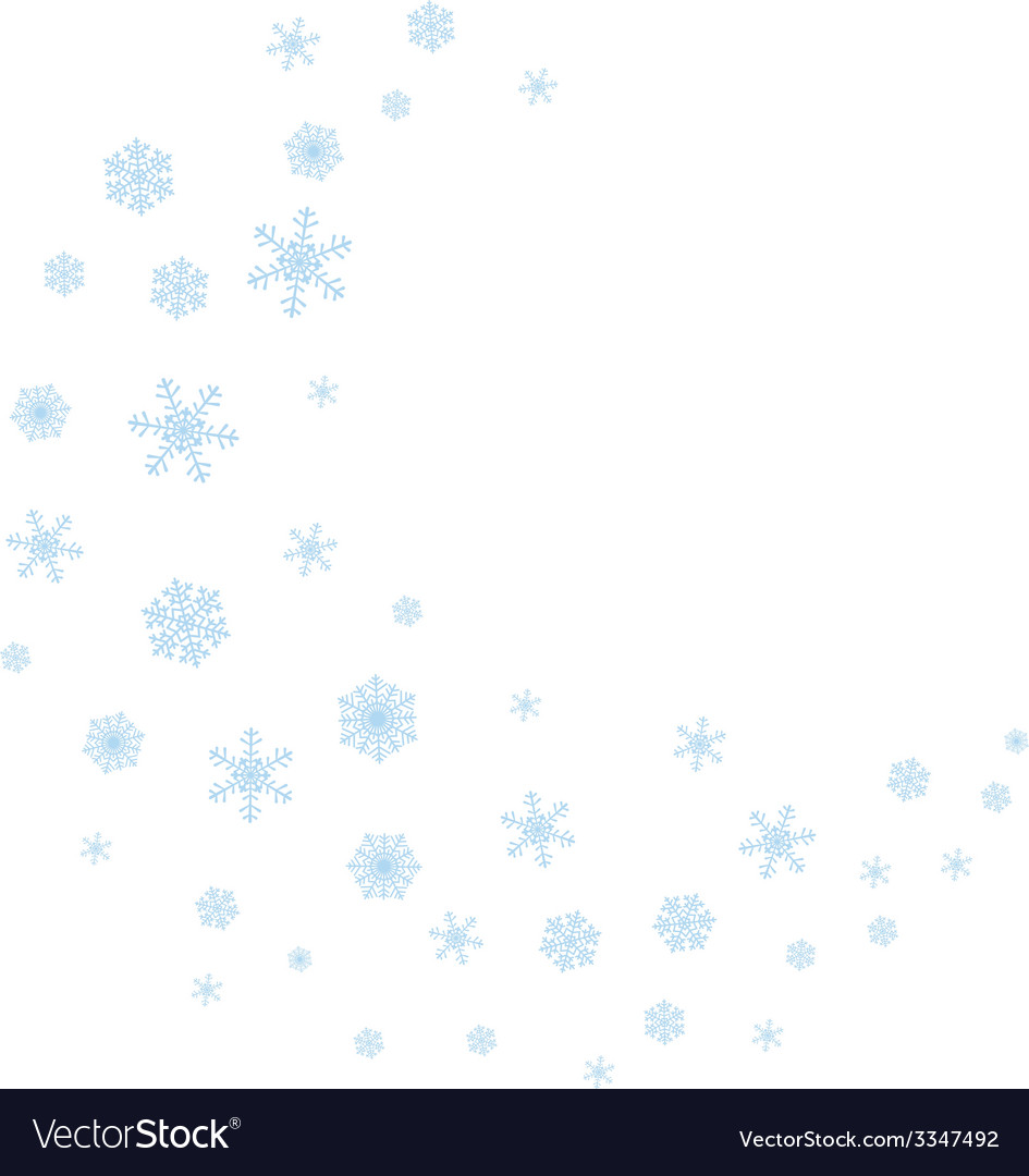 Wave of snowflakes vector | Price: 1 Credit (USD $1)