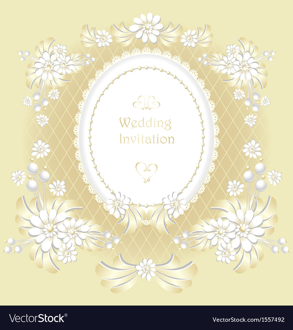 Wedding invitation or congratulation in gold vector | Price: 1 Credit (USD $1)