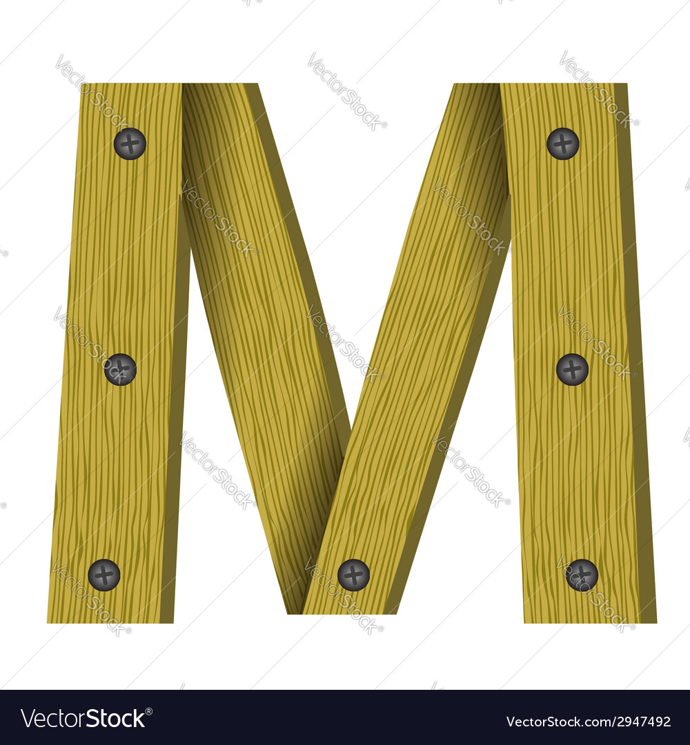 Wood letter m vector | Price: 1 Credit (USD $1)
