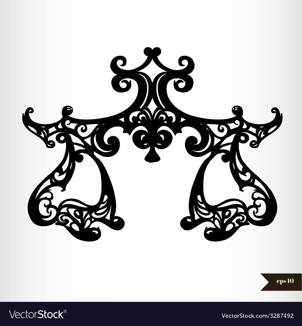 Zodiac signs black and white - libra vector | Price: 1 Credit (USD $1)