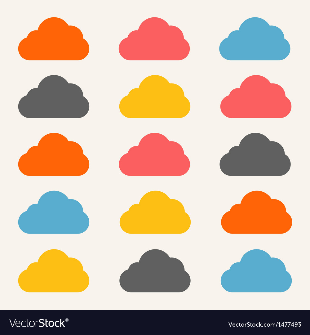 Cloud service vector | Price: 1 Credit (USD $1)