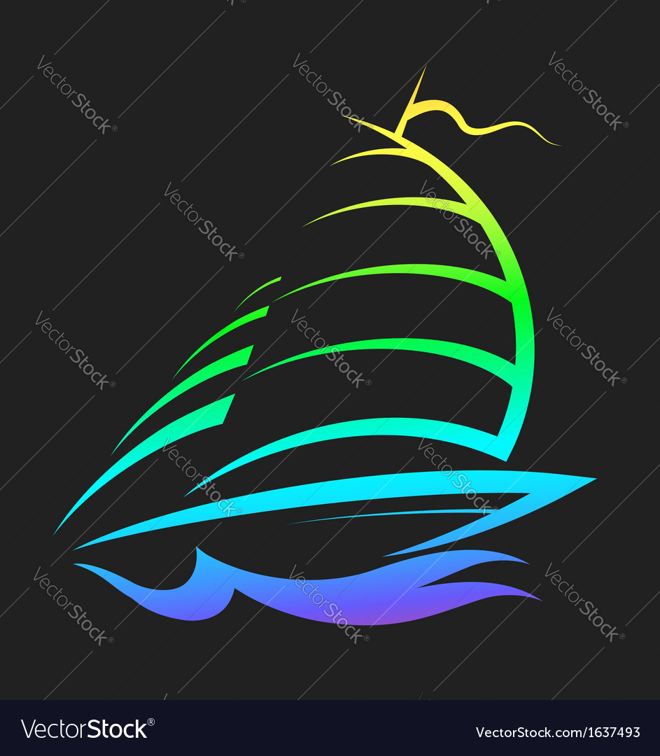 Design sports yacht vector | Price: 1 Credit (USD $1)