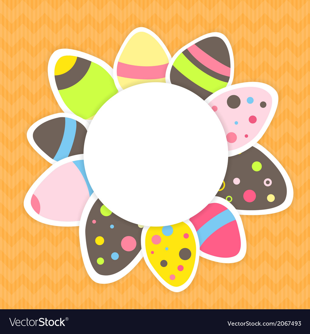 Eastern eggs pattern on a orange vector   Price: 1 Credit (USD $1)
