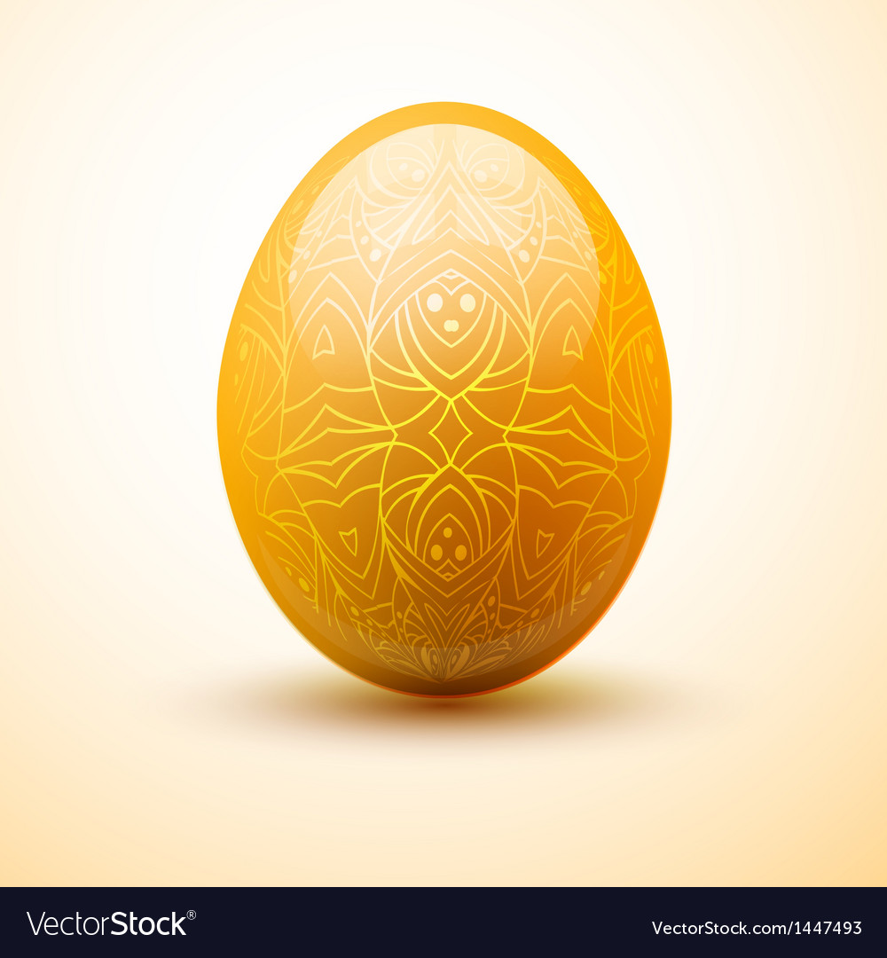 Egg with pattern easter and spring concept vector | Price: 1 Credit (USD $1)