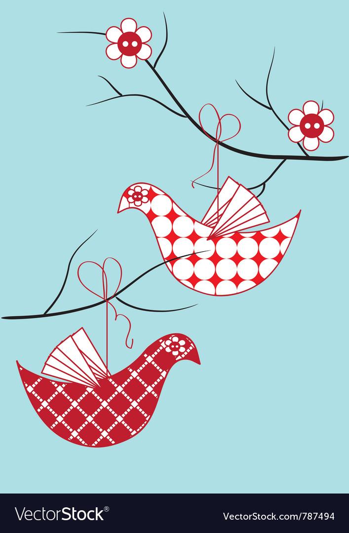 Bird toy hanging vector   Price: 1 Credit (USD $1)