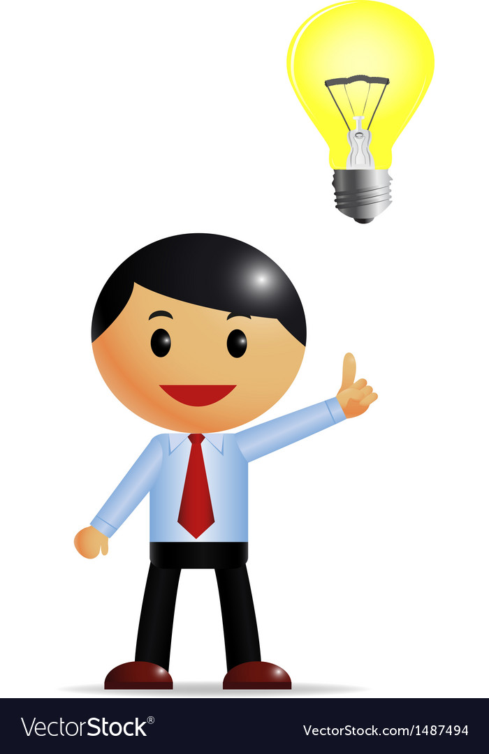Businessman and idea vector | Price: 1 Credit (USD $1)