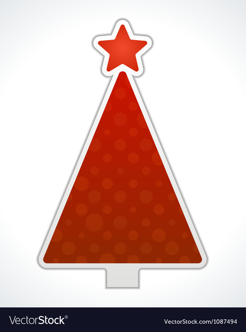 Christmas tree label design element vector | Price: 1 Credit (USD $1)